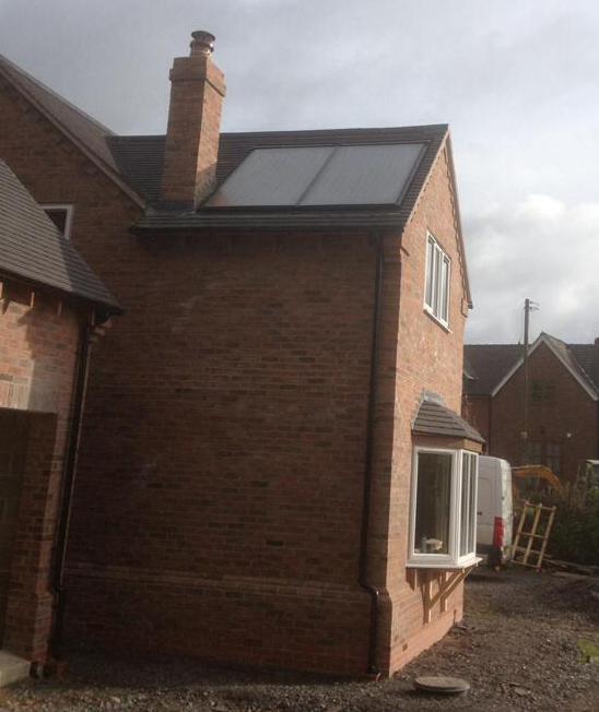 Compact Solar Thermal installation, Shrewsbury