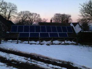 Solar PV installation at the Longmynd, Shropshire