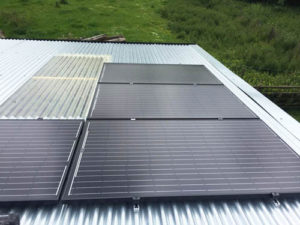 Solar PV installation on farm buildings in Westbury, Shropshire