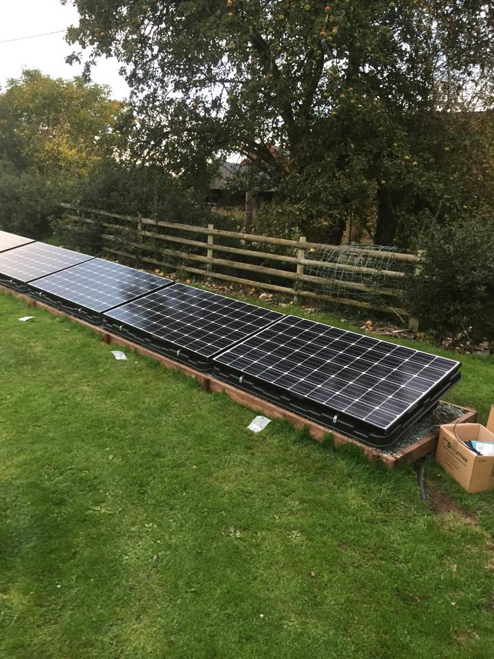 how to clean solar panels from the ground