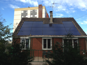 A GSE Intergration system installed with solar panels