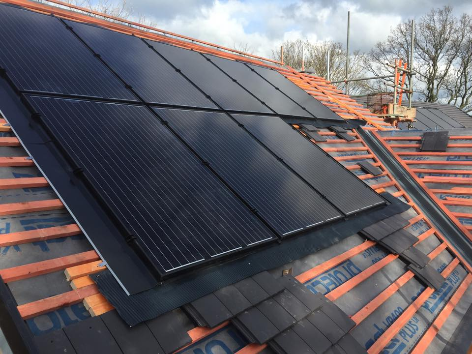 View of solar pv panels