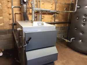Biomass installation in Cressage