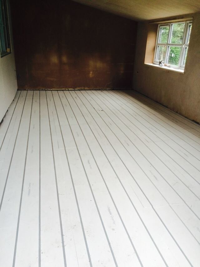 underfloor heating covered
