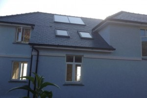 Completed Solar Thermal installation – Newquay, Wales